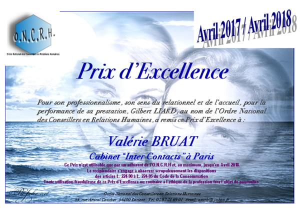 prix excellence 2017 - Agence de rencontre Paris